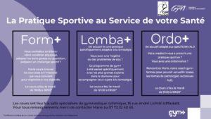 Read more about the article Cours adultes GYM+ – La pratique sportive au service de votre santé